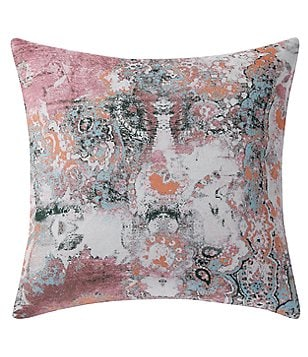 Poetic Wanderlust by Tracy Porter Wish Floral Velvet and Faux-Silk Square Feather Pillow