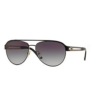 Versace Vintage Vanitas Double Bridge Aviator Sunglasses