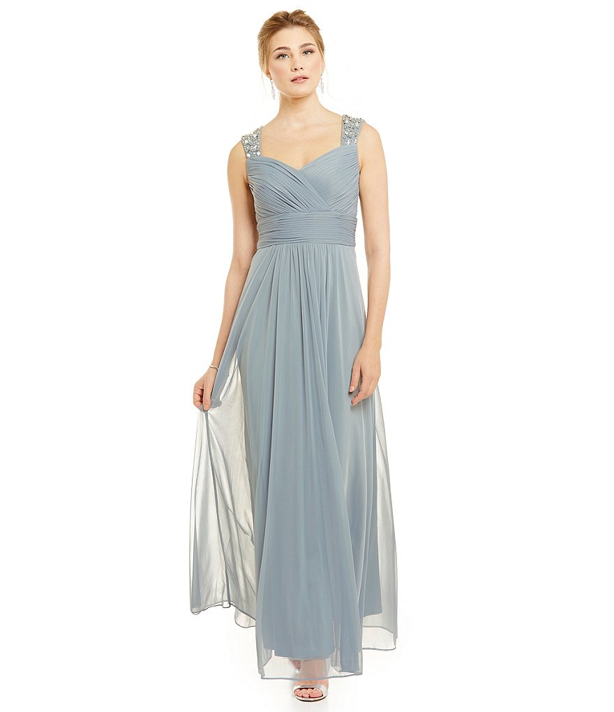 Jessica Howard Beaded Strap Gown