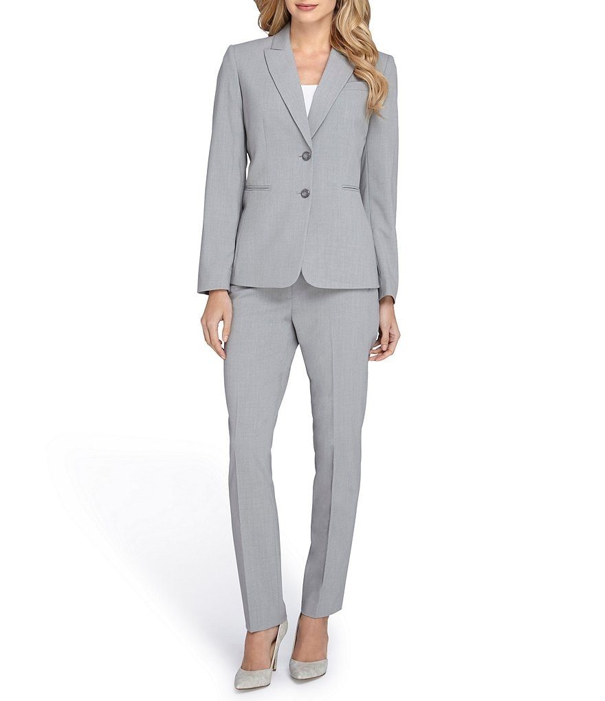 Tahari ASL Cuffed 2-Button Pant Suit