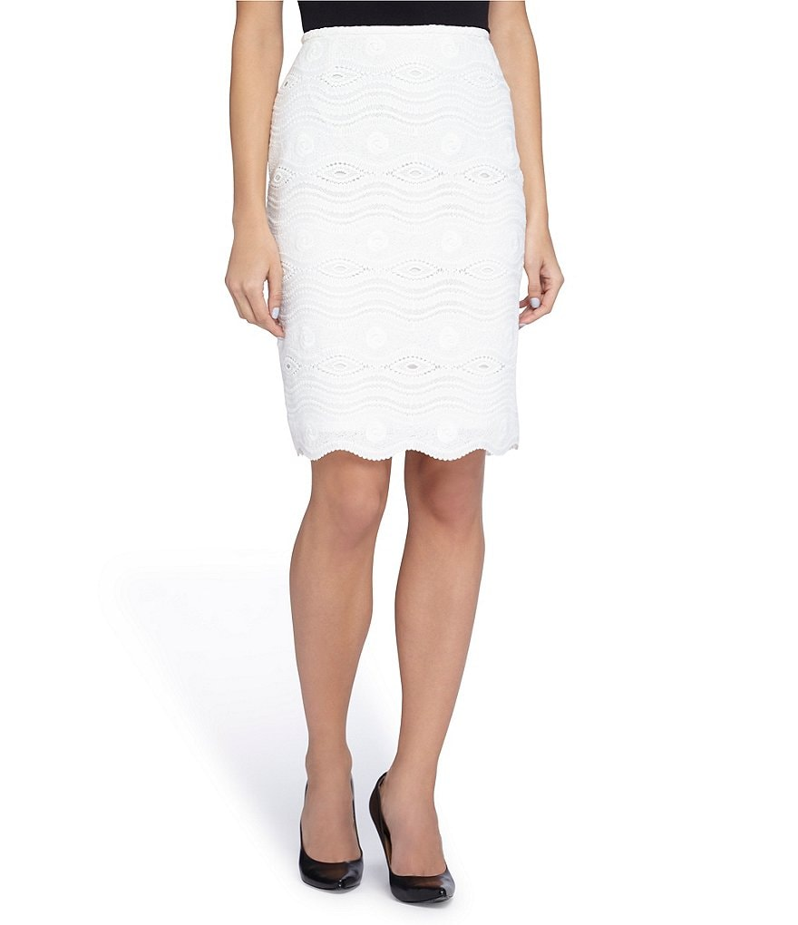 Tahari ASL Crochet Lace Skirt