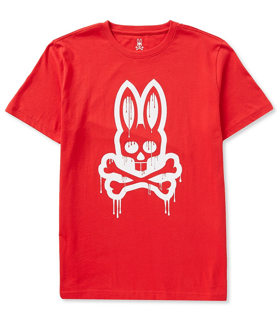 Psycho Bunny Short-Sleeve Dripping Bunny Graphic Tee