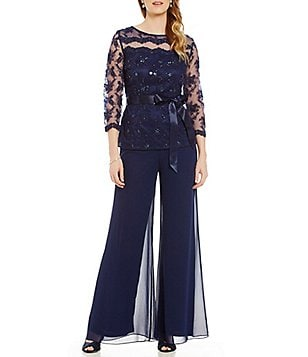 Emma Street Beaded 2-Piece Pant Set