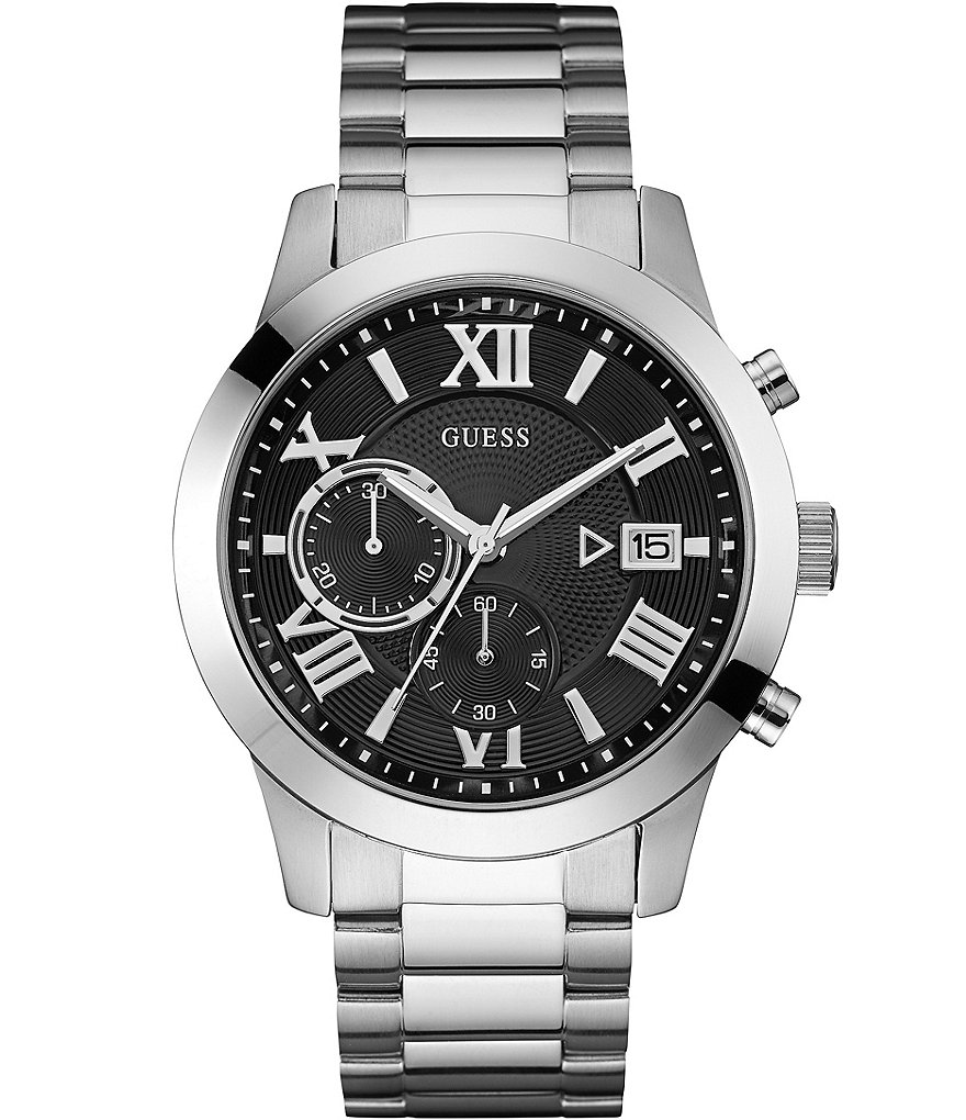 Guess Stainless Steel Chronograph Bracelet Watch