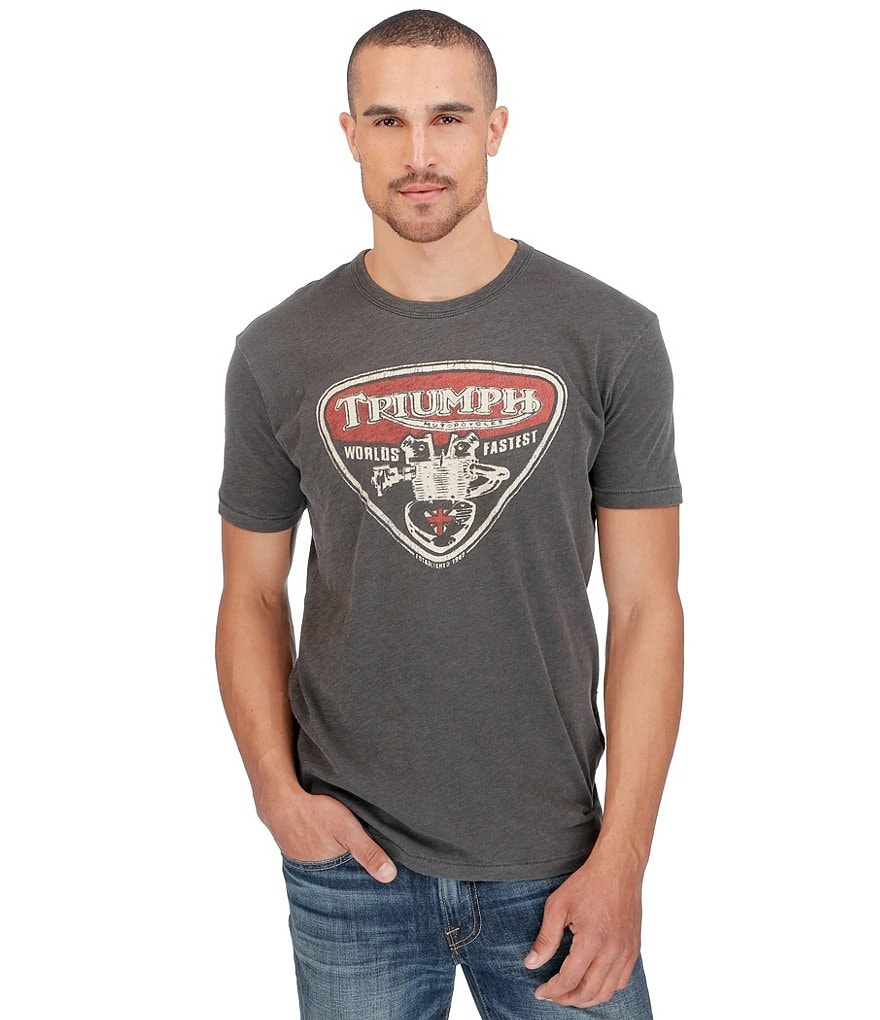 Lucky Brand Triumph Twin Short-Sleeve Graphic Tee