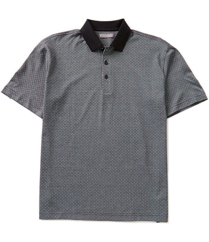 Daniel Cremieux Signature Short-Sleeve Jacquard Pique Polo Shirt
