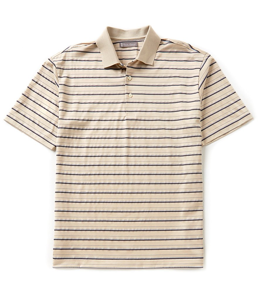 Daniel Cremieux Signature Short-Sleeve Horizontal Striped Pique Polo Shirt