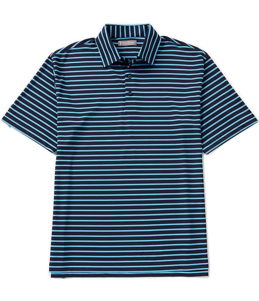Daniel Cremieux Signature Short-Sleeve Mercerized Horizontal Stripe Polo Shirt