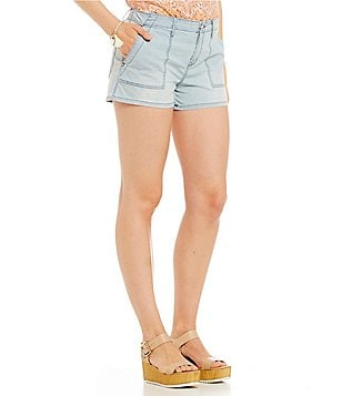 Sanctuary Peach Chambray Pocket Trooper Short