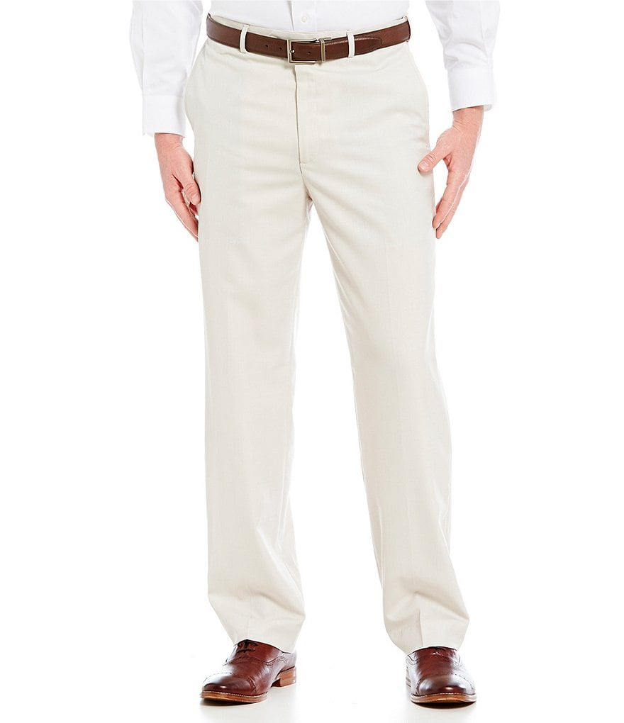 Roundtree & Yorke Flat-Front Expander Dress Pants