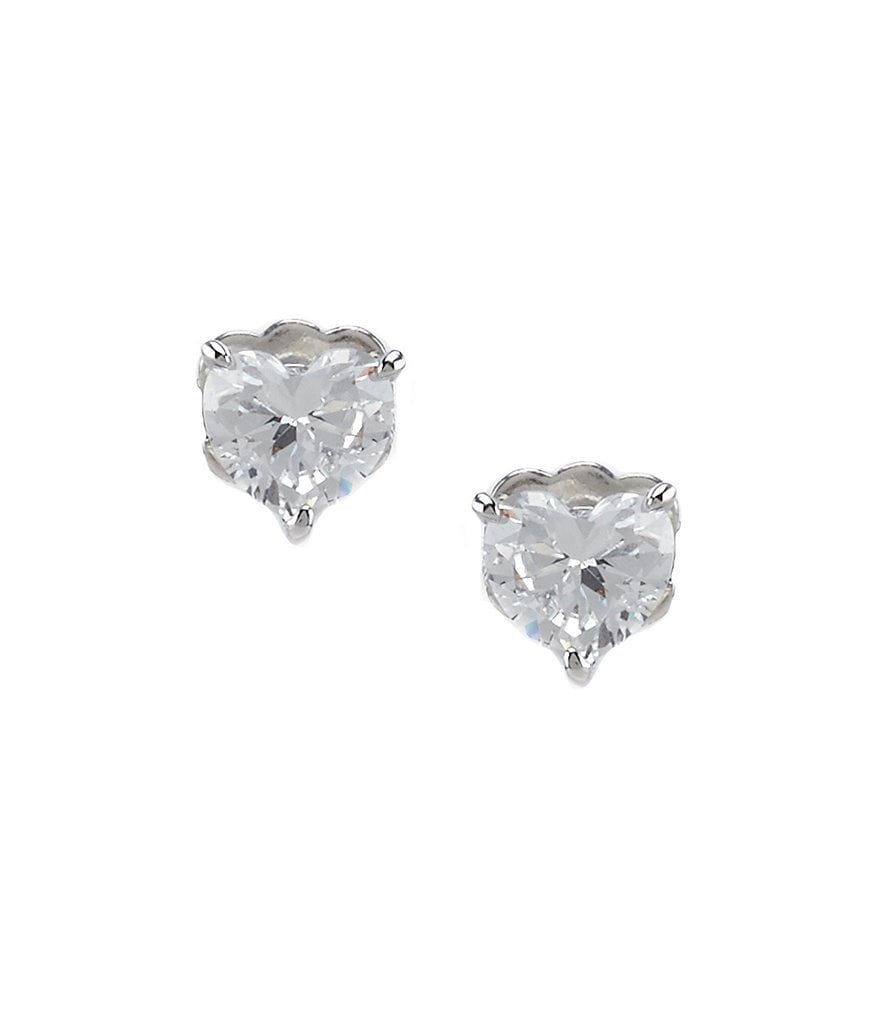 Nadri Valentine´s Day Cubic Zirconia Heart Stud Earrings