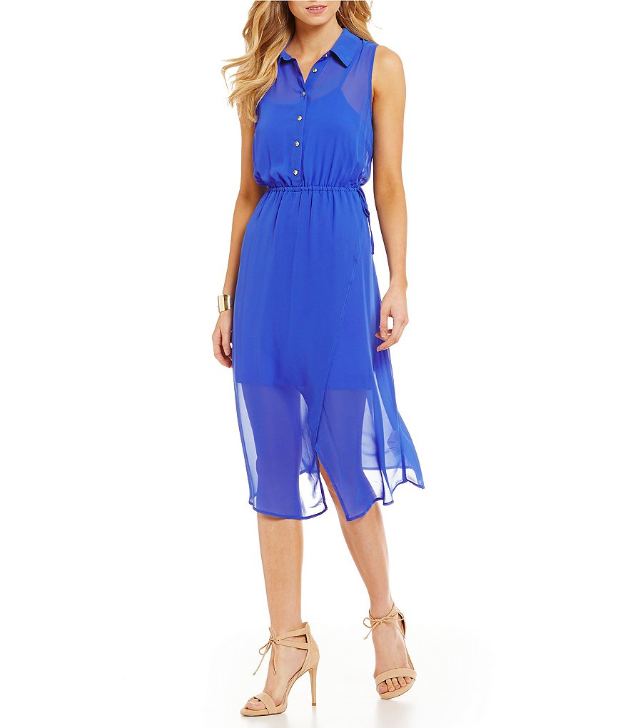 kensie Crepe Chiffon Dress