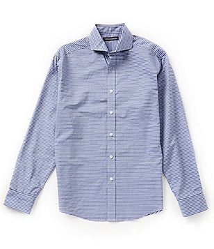 Vince Camuto Horizontal Striped Dobby Slim-Fit Shirt