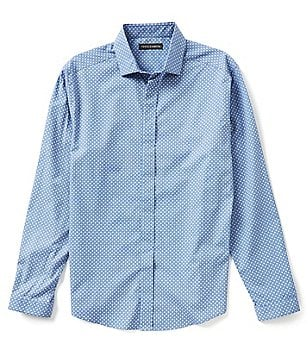 Vince Camuto Slim-Fit Printed Chambray Shirt