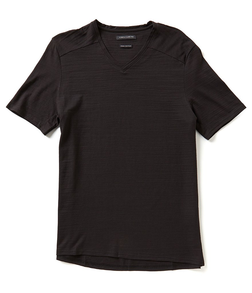 Vince Camuto Short-Sleeve Slim-Fit V-Neck Tee
