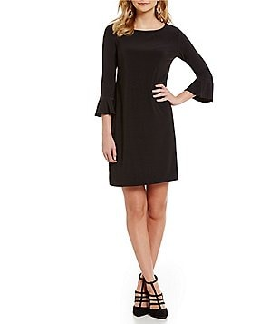Laundry By Shelli Segal Flounce Sleeve Matte Jersey Dress