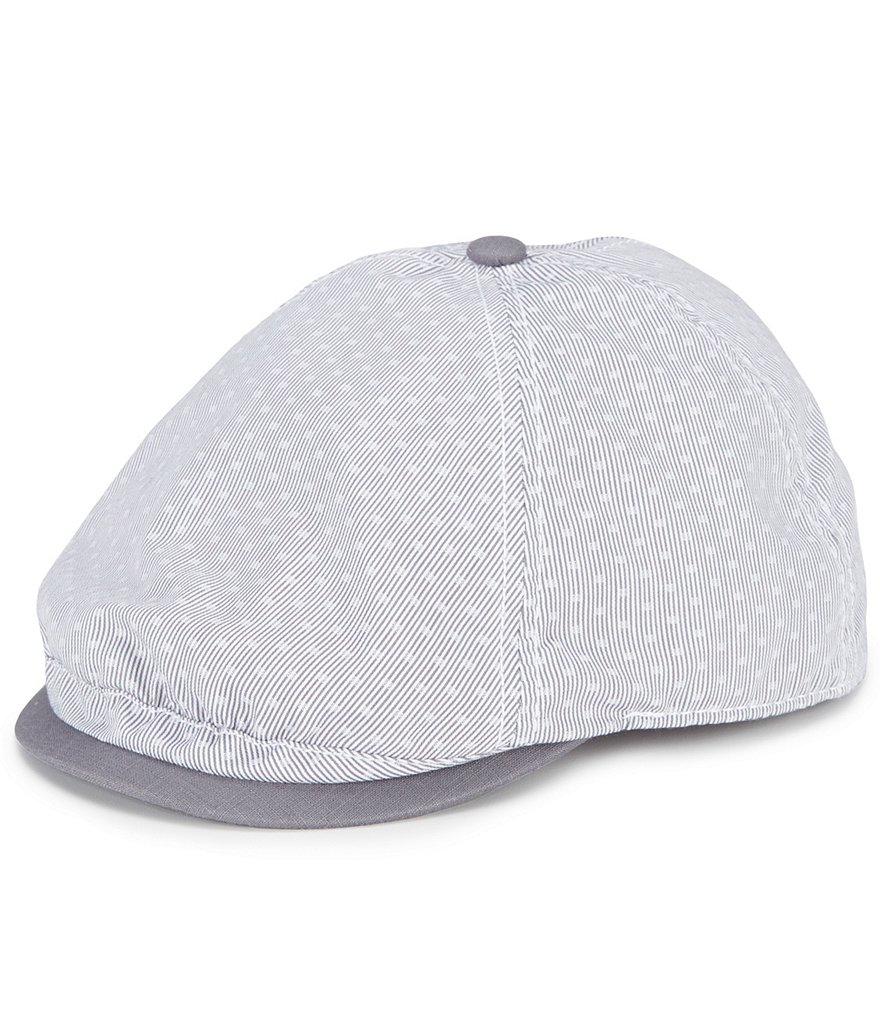 Cremieux Pinstriped Polka-Dot Driver Hat