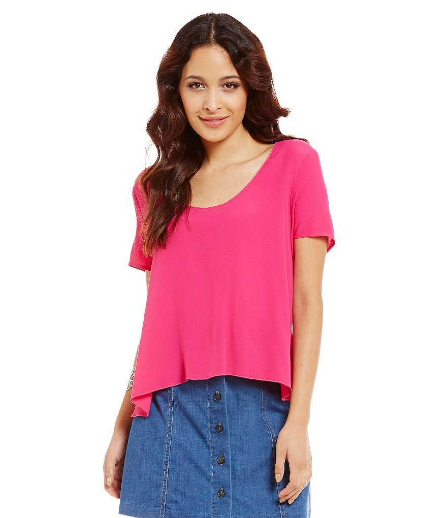 WAYF Short-Sleeve Open Tie Back Tee