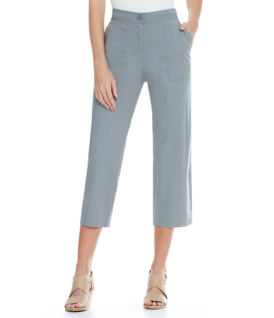 Eileen Fisher Poplin Cropped Flare Pants