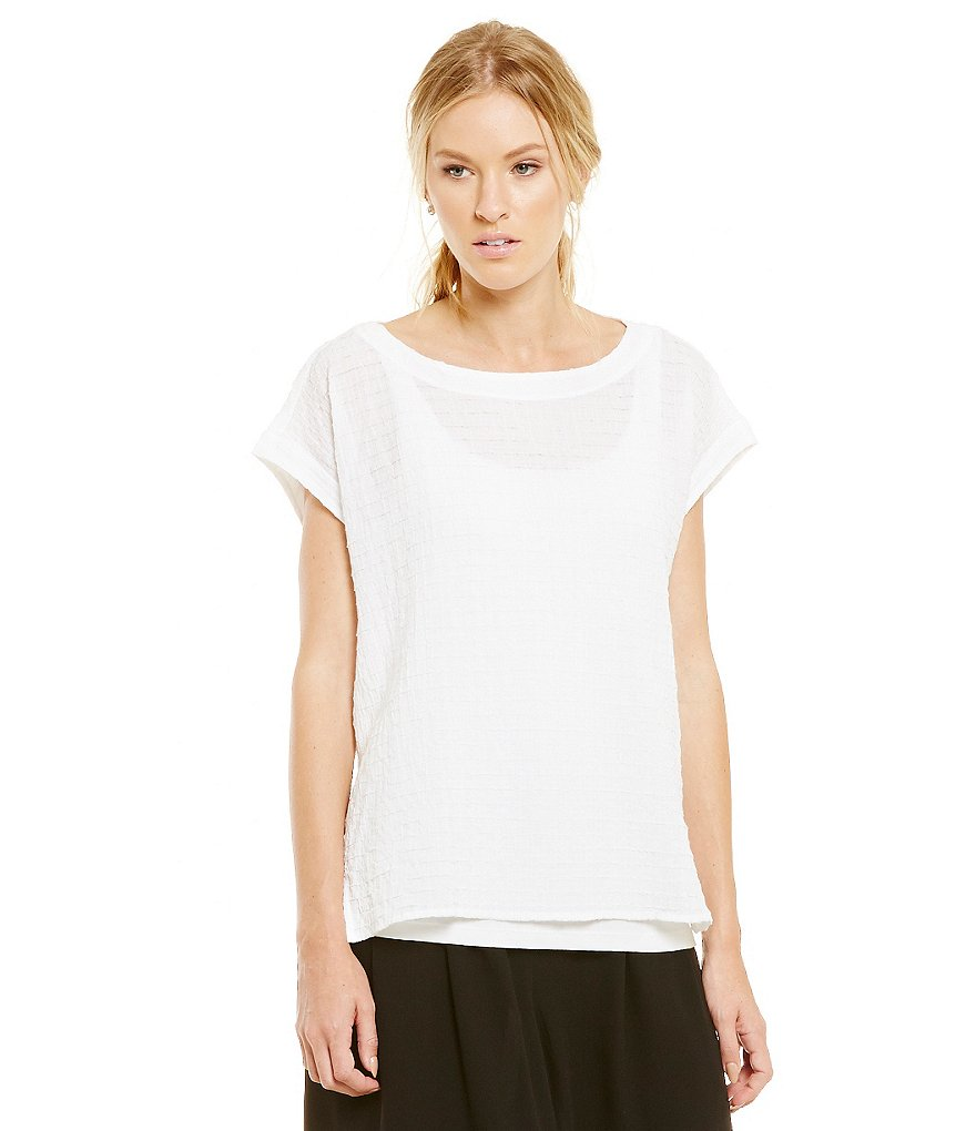 Eileen Fisher Voile Boxy Swing Top