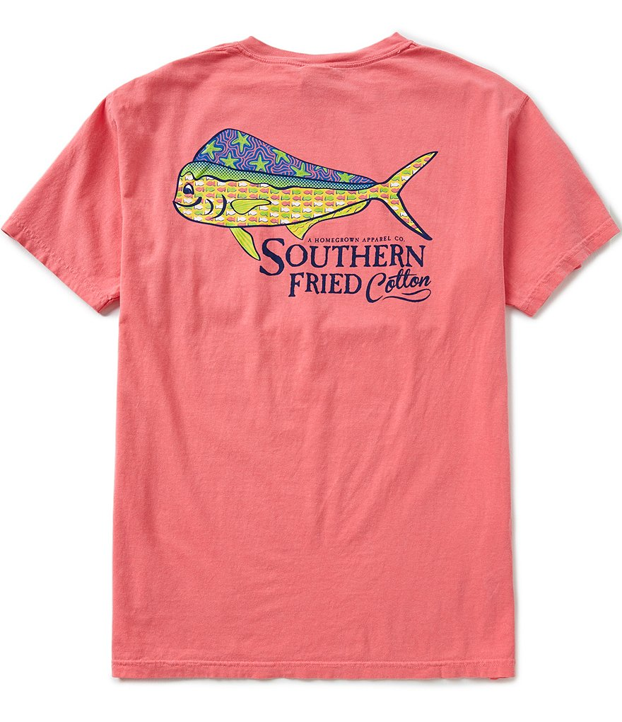 Southern Fried Cotton Mens Dorado Pocket Graphic Tee