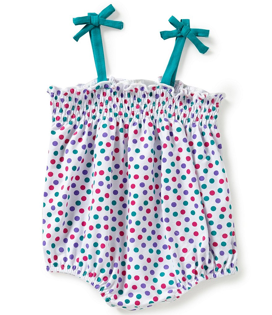 Rare Editions Baby Girls 3-9 Months Dotted Romper