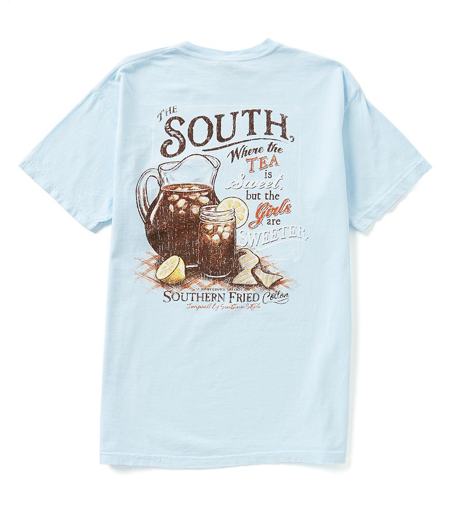 Southern Fried Cotton Mens Sweetness Pocket Graphic Tee