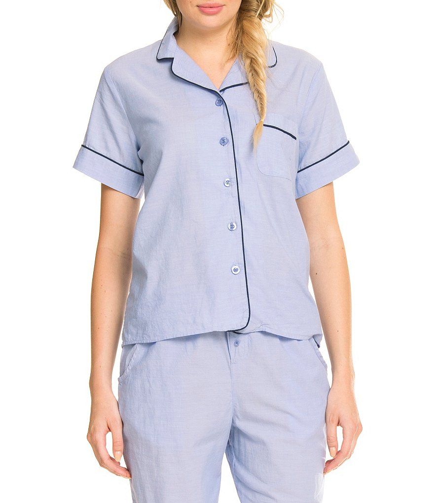 Sleep Sense Chambray Poplin Sleepshirt