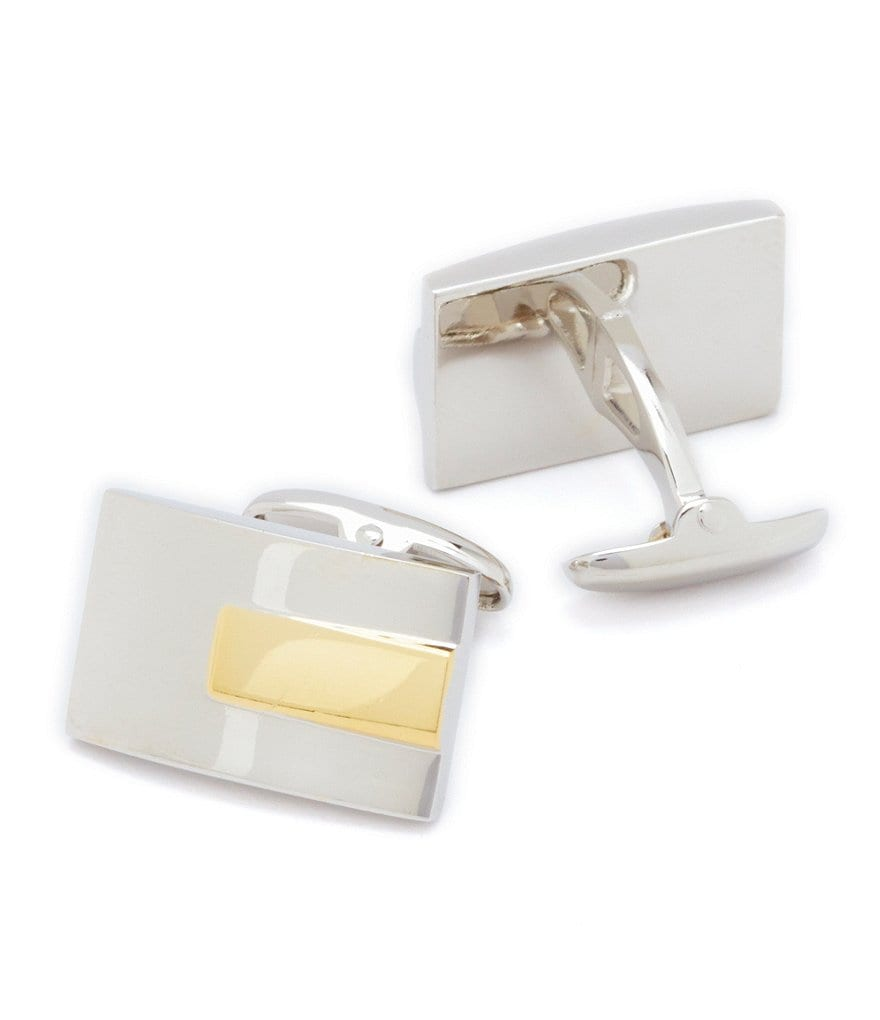 Roundtree & Yorke Two-Tone Cuff Links