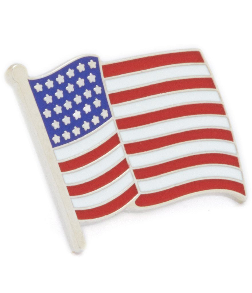 Roundtree & Yorke American Flag Lapel Pin