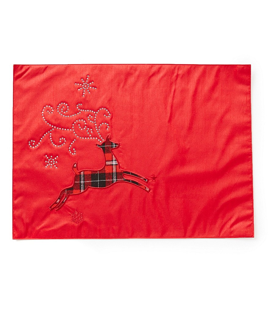 Town & Country Plaid Reindeer Placemat