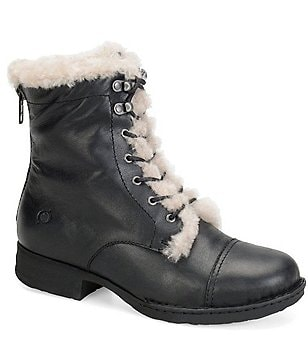 Born Retta Shearling Lined Lace Up Booties