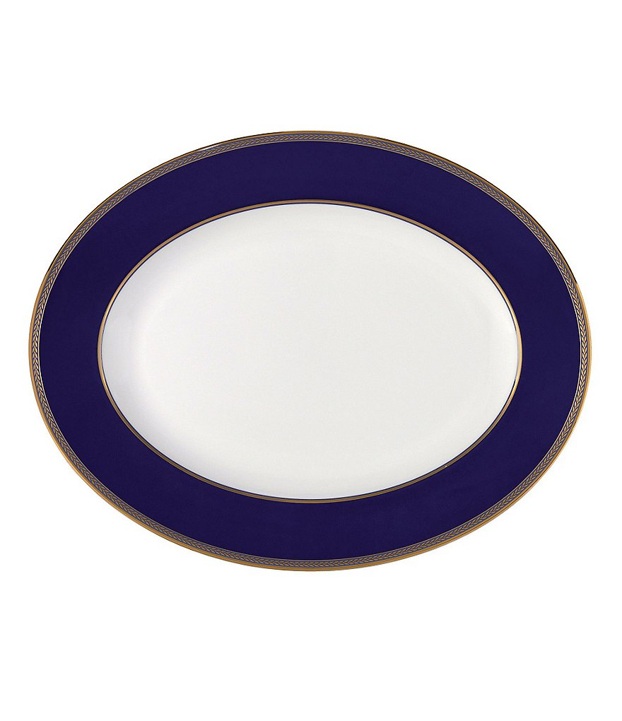 Wedgwood Renaissance Gold Neoclassical Oval Platter
