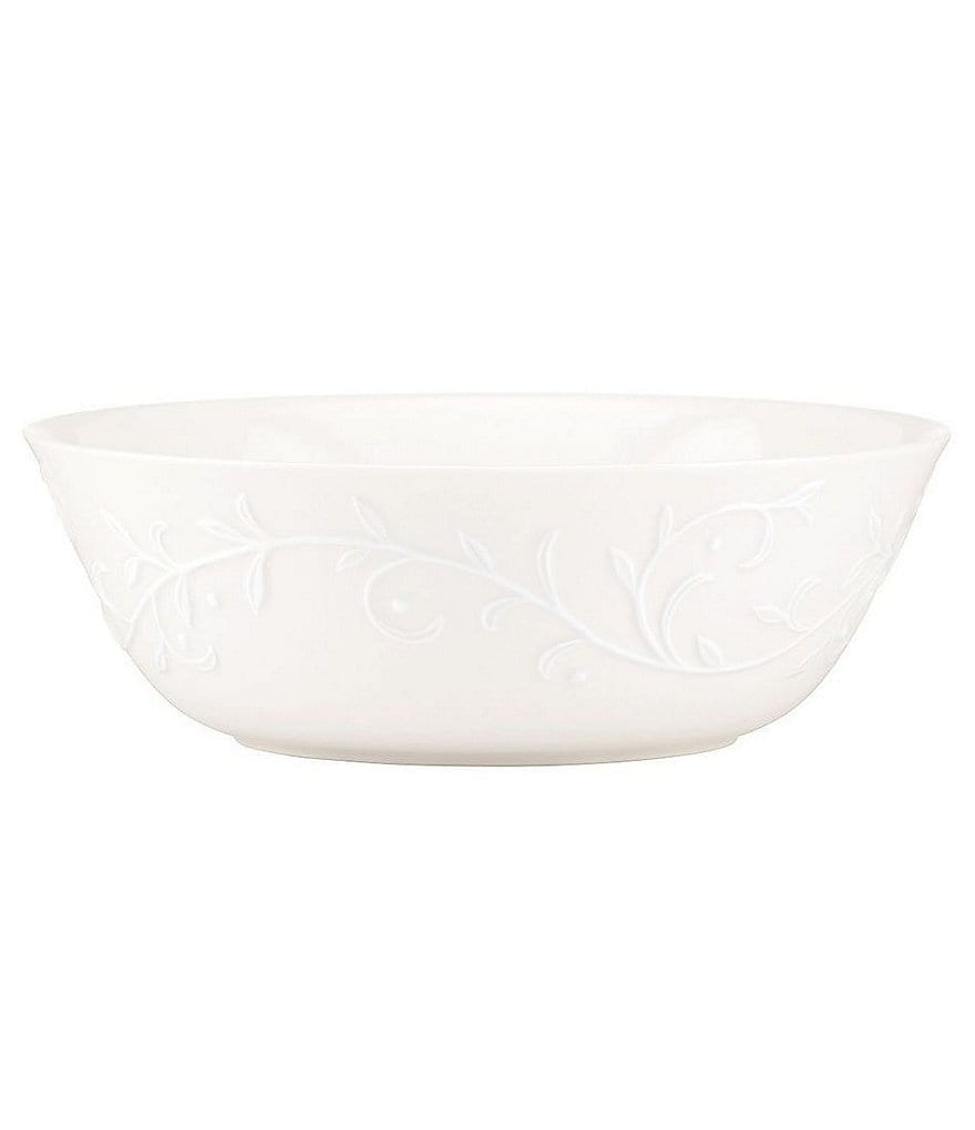 Lenox Opal Innocence Carved Scroll Porcelain All-Purpose Bowl