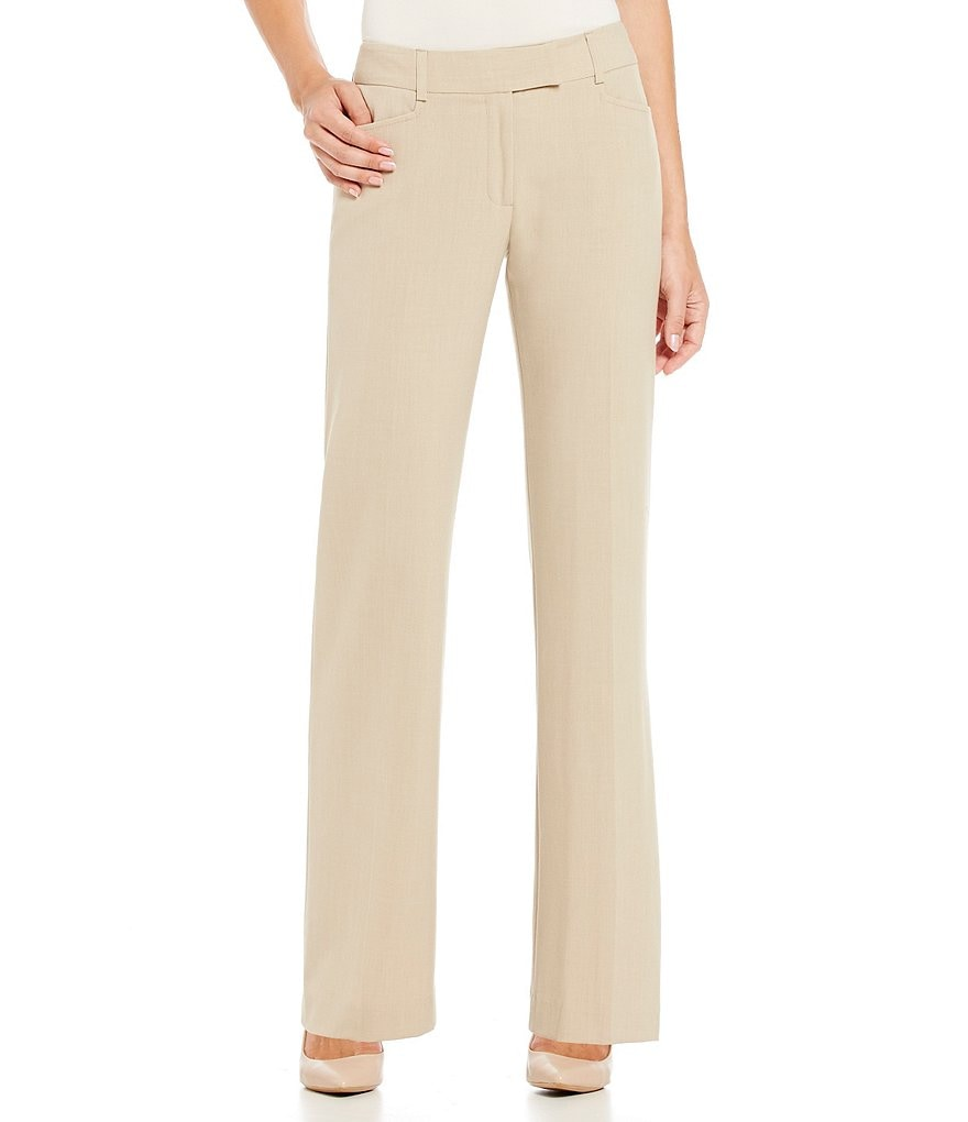 Tahari ASL Thick Belt Loop Waistband Trouser Pants