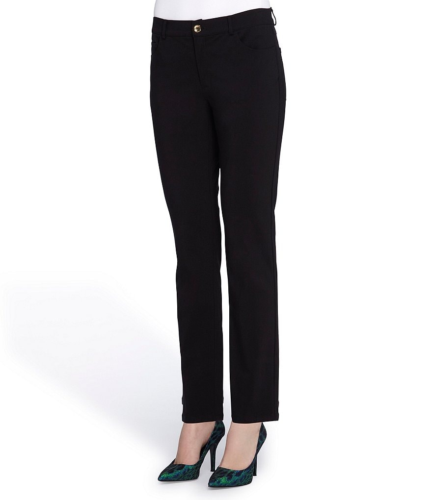 Tahari ASL Techno Stretch Black Pant