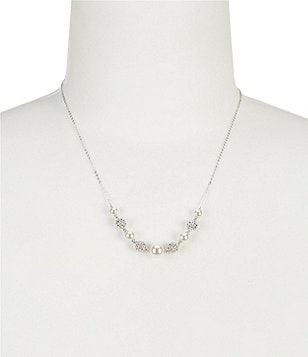 Nadri Pearl Frontal Necklace