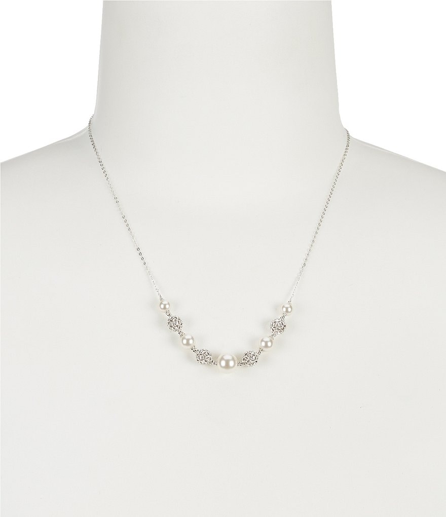 Nadri Faux-Pearl Frontal Necklace