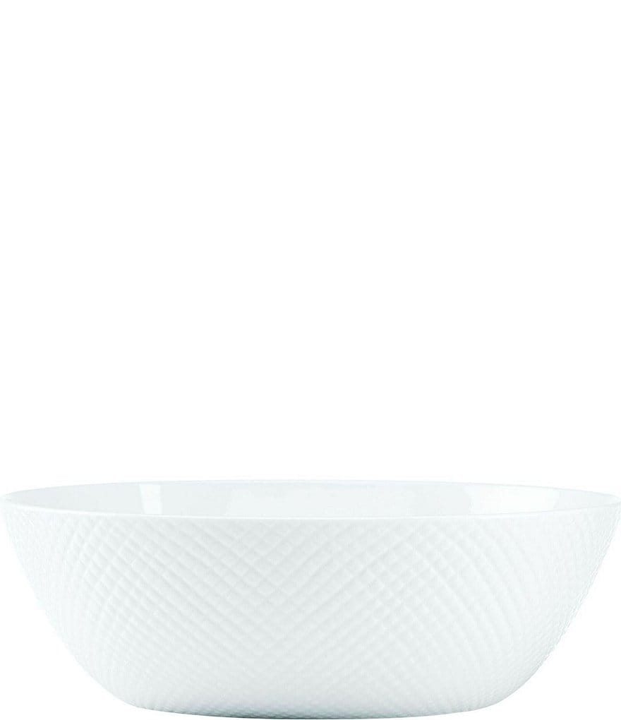 Gorham Woodbury Embossed Bone China Oval Vegetable Bowl