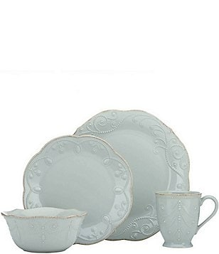 Lenox French Perle Scalloped Stoneware 4-Piece Place Setting