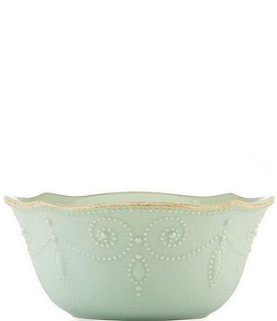 Lenox French Perle Beaded Scalloped Stoneware All-Purpose Bowl