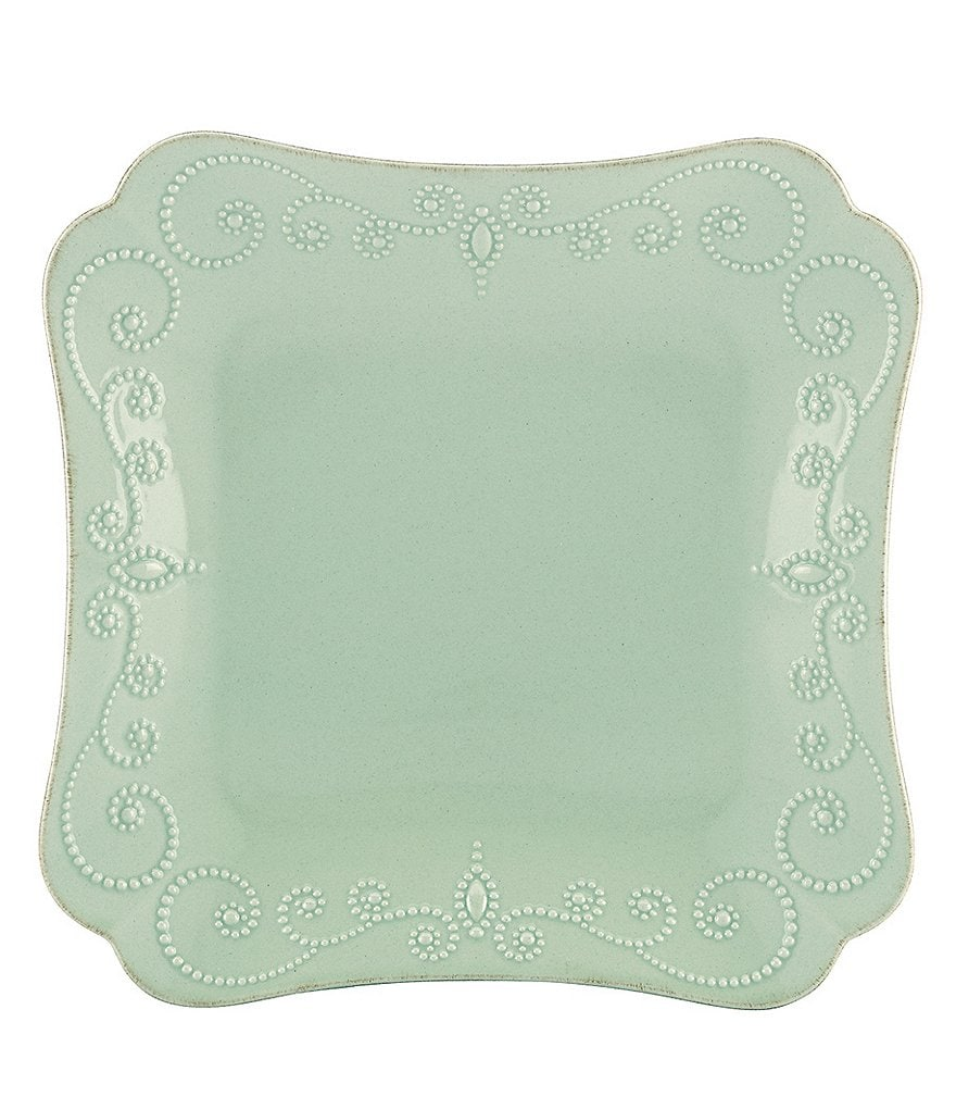 Lenox French Perle Scalloped Stoneware Square Dinner Plate