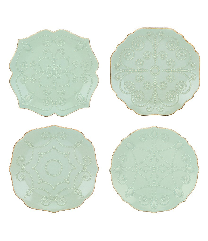 Lenox French Perle Scalloped Stoneware Accent Plates, Set of 4