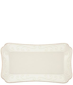 Lenox French Perle Beaded Scalloped Stoneware Hors d'Oeuvre Tray