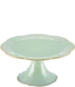 Lenox French Perle Scalloped Stoneware Pedestal Cake Plate