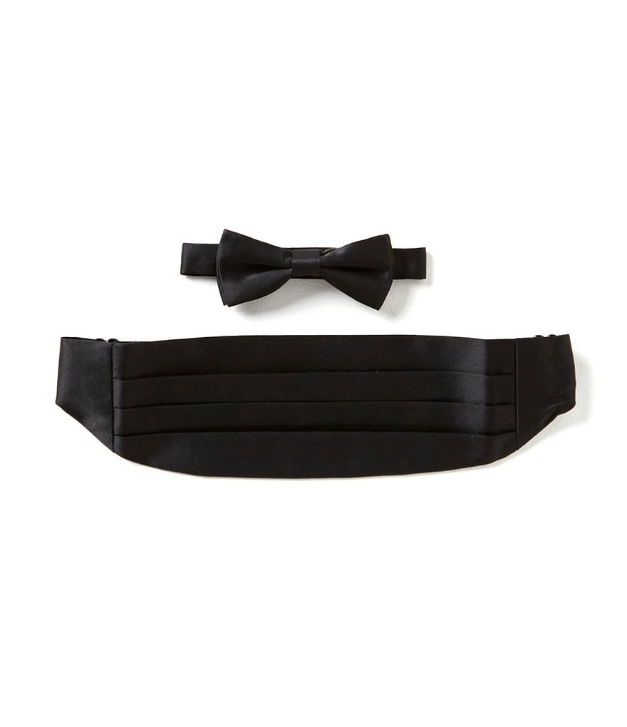 Class Club Black Bow Tie & Cummerbund Set