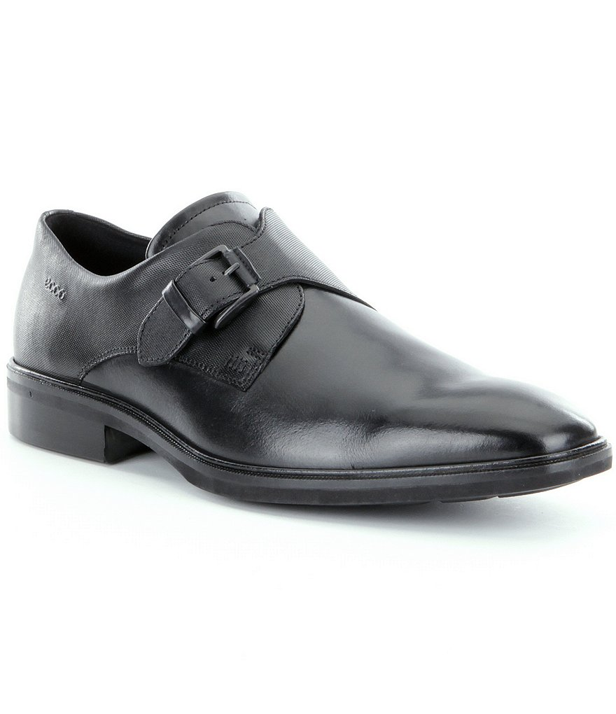 ECCO Illinois Men´s Monk Strap Buckle Dress Shoes
