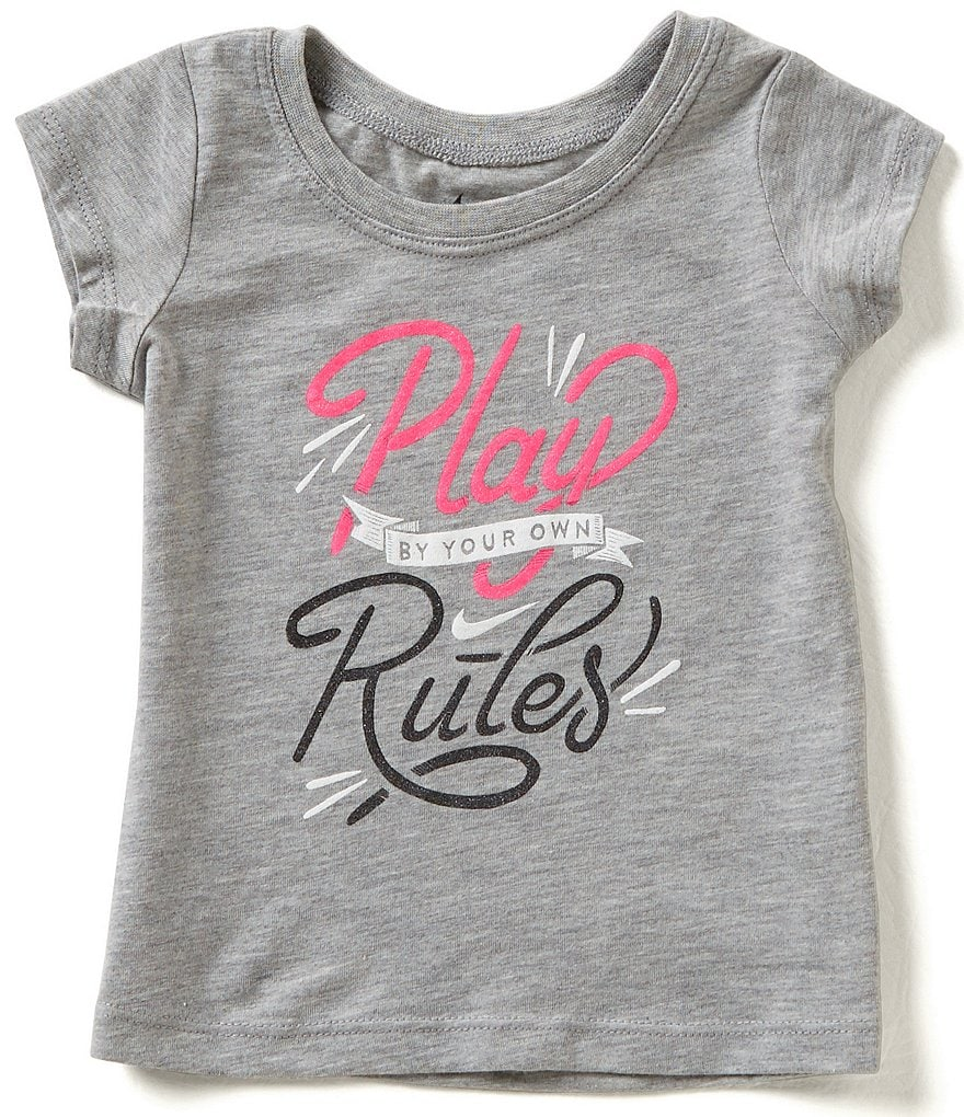 Nike Baby Girls 12-24 Months Play By Your Own Rules Short-Sleeve Tee