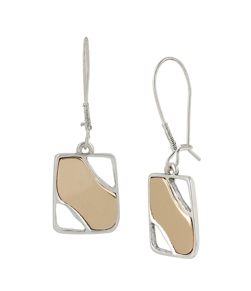 Robert Lee Morris Soho Geometric Rectangle Drop Earrings