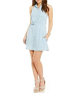YMI Jeanswear Chambray Shirtdress